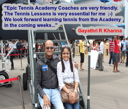Very satisfied student after signing a Tennis Lessons package with Epic Tennis Academy